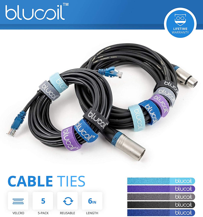 SiliconDust HDHomeRun Connect Quatro HDHR5-4US Tuner Bundle with Blucoil 14-Ft 1 Gbps Cat5e Cable & 5-Pack of Reusable Cable Ties