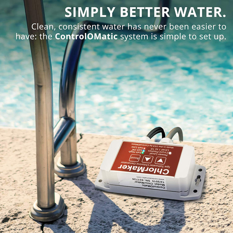 ControlOMatic ChlorMaker Saltwater Chlorine Generation System for Pools, Hot Tubs, Spas