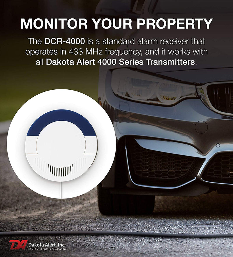Dakota Alert DCR-4000 Driveway Alarm Receiver for Dakota Alert 4000 Series Wireless Transmitters