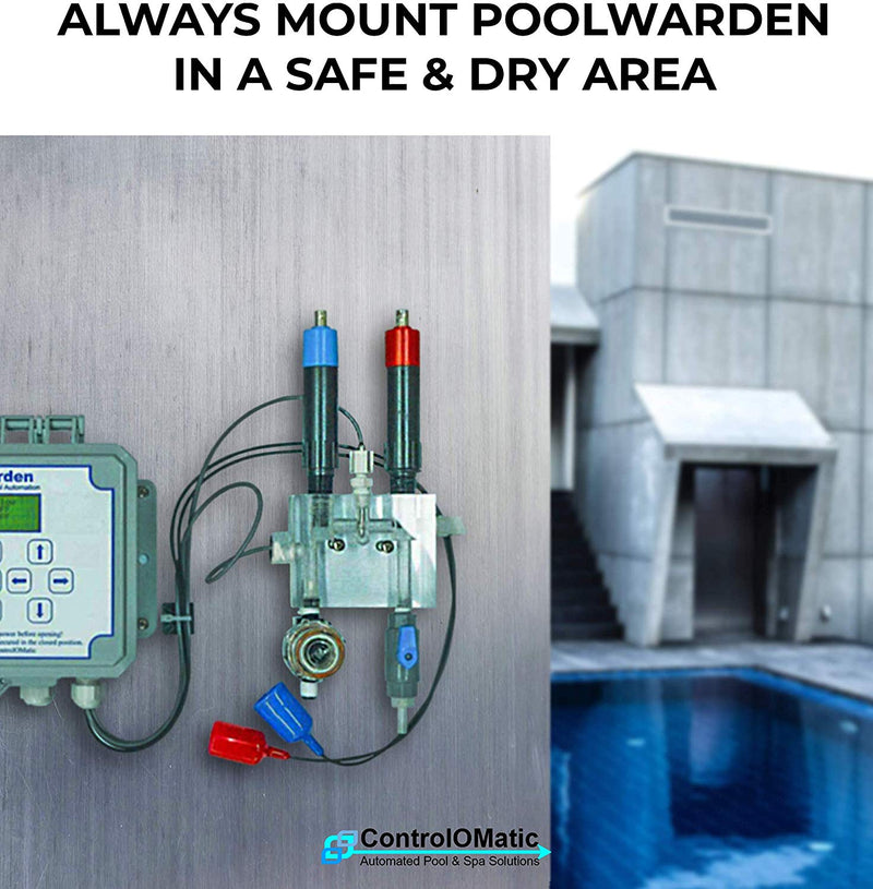 PoolWarden ORP Sensor Industrial Pool & Spa Water Chemical Controller Probe, Platinum Band