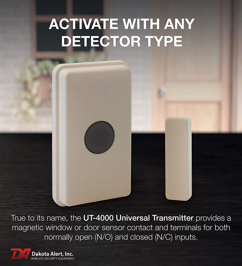 Dakota Alert UT-4000 Universal Transmitter for DCR-4000 Receiver - Wireless Home & Driveway Alarm System