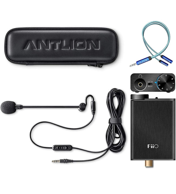 Antlion Audio ModMic 4 with Mute Switch+FiiO E10K USB DAC Headphone Amp+Blucoil USB Soundcard