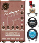 LR Baggs Para Acoustic DI Box Bundle with Blucoil 10-FT Balanced XLR Cable, 10-FT Mono Instrument Cable, 2-Pack of Pedal Patch Cables, and 2 9V Alkaline Batteries
