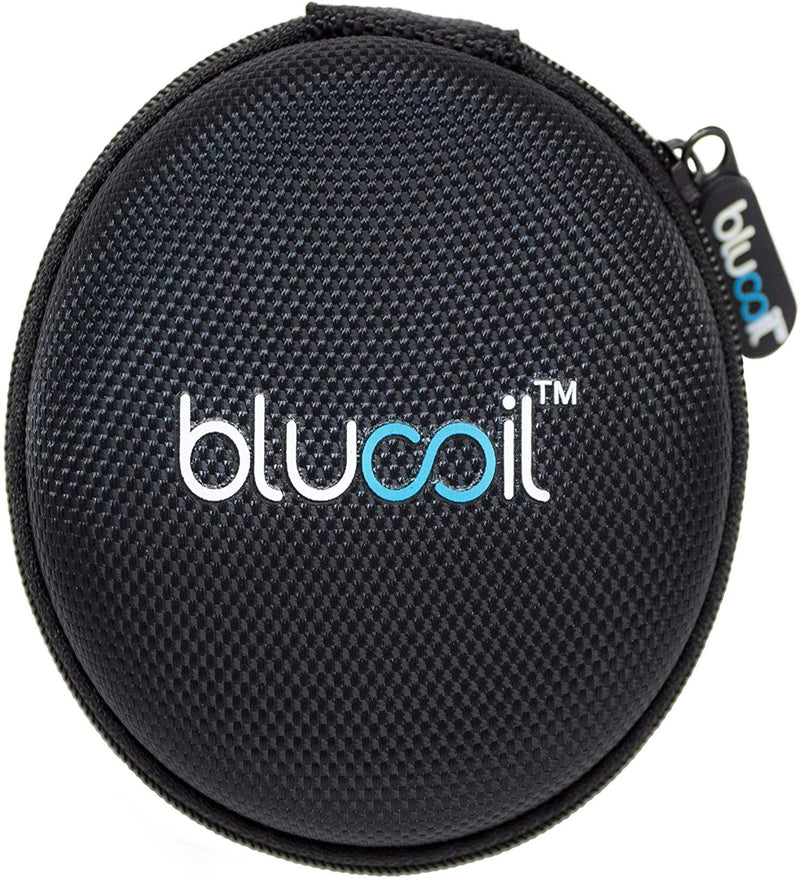 "Blucoil 3.25"" Portable Hard Case for Earphones, Earbuds, in-Ear Monitors - Made with Shockproof EVA, Water-Resistant Polyester"
