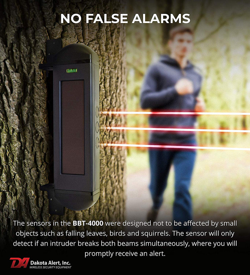 Dakota Alert BBA-4000 Solar Powered Break Beam Alarm Kit: Infrared Transmitter + Wireless Receiver