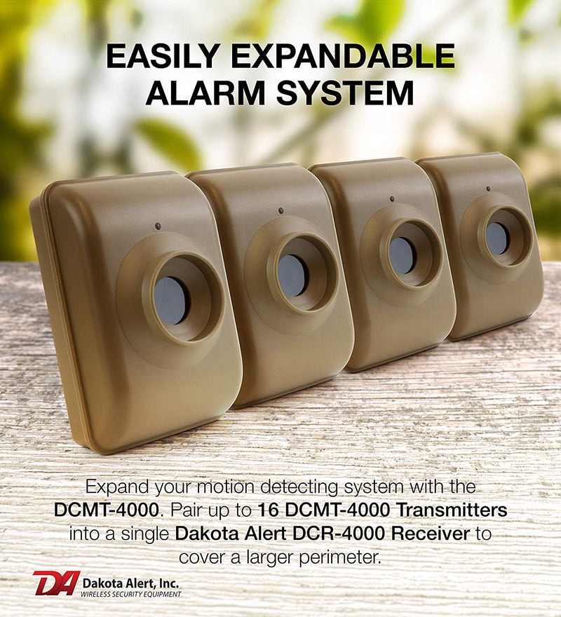 Dakota Alert DCMT-4000 Infrared Motion Detector Transmitter, Wireless Alarm System for Home Security