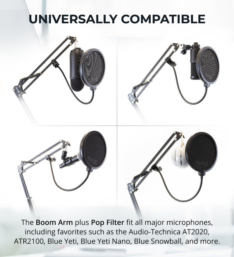 Blucoil Boom Arm Plus Pop Filter