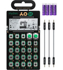 "Teenage Engineering PO-20 Arcade Synthesizer + Blucoil 3x 7"" Audio Aux Cables + 4 AAA Batteries"