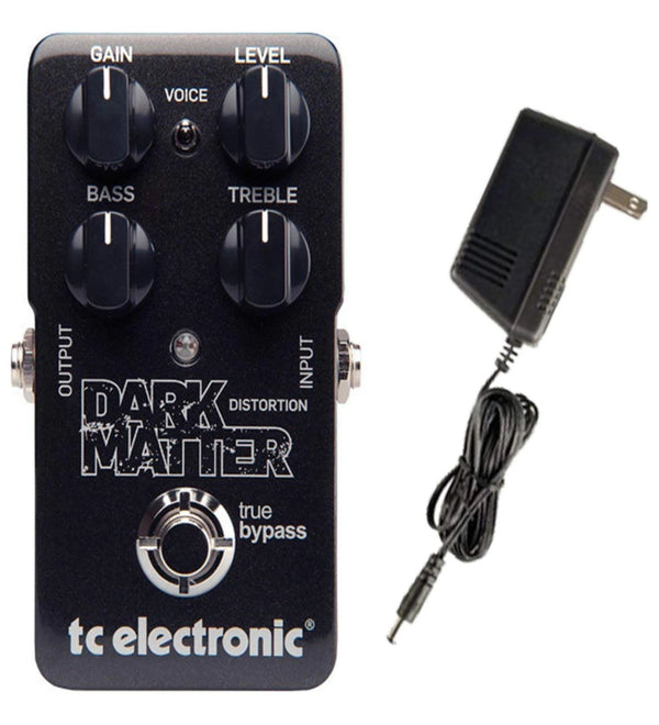 TC Electronic Dark Matter Distortion Guitar Effects Pedal Bundle 960720001