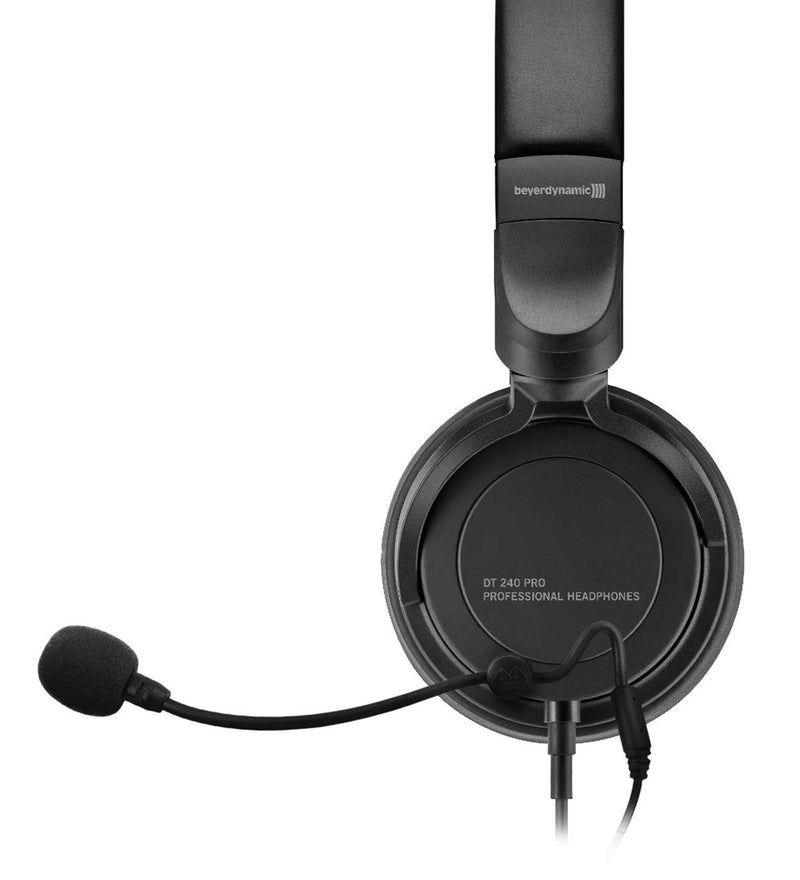 Beyerdynamic DT 240 Pro Closed Back Studio Headphones Bundle with Antlion Audio ModMic 4 with Mute Switch and Blucoil Y Splitter for Audio, Mic