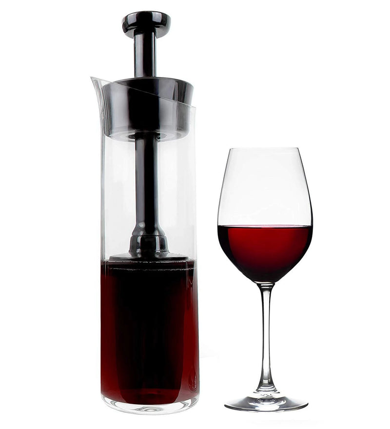 Wine Squirrel Wine Preserving Decanter and Carafe - Airtight Seal Keeps Wine Fresh