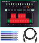 Roland TB-3 Touch Bassline Bass Synthesizer Bundle with Hosa 5-pin DIN to 5-pin DIN 5ft MIDI Cable and 5-Pack of Blucoil Cable Ties