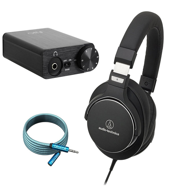 Audio-Technica ATH-MSR7NC Headset + FiiO E10K Headphone DAC + Blucoil 6' 3.5mm Extension Cable