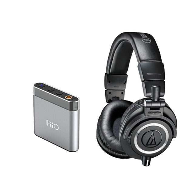 Audio-Technica ATH-M50x Professional Monitor Headphones + Fiio A1 Headphone Amp