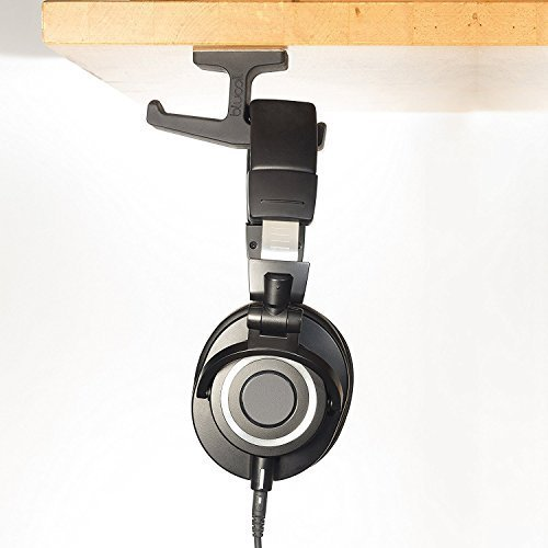 AKG K240STUDIO Semi-Opened Studio Headphones Bundle with Blucoil Headphone-Microphone Y Splitter and Under-Desk Headphone Hook