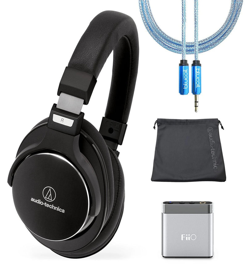 Audio-Technica ATH-MSR7NC Headset + FiiO A1 Headphone Amp + Blucoil 6' 3.5mm Extension Cable