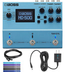 BOSS MD-500 Modulation Multi-Effects Pedal with True Bypass Bundle with Hosa MID-305BK 5-ft MIDI Cable, Blucoil Power Supply Slim AC/DC Adapter for 9 Volt DC 670mA and 5-Pack of Cable Ties