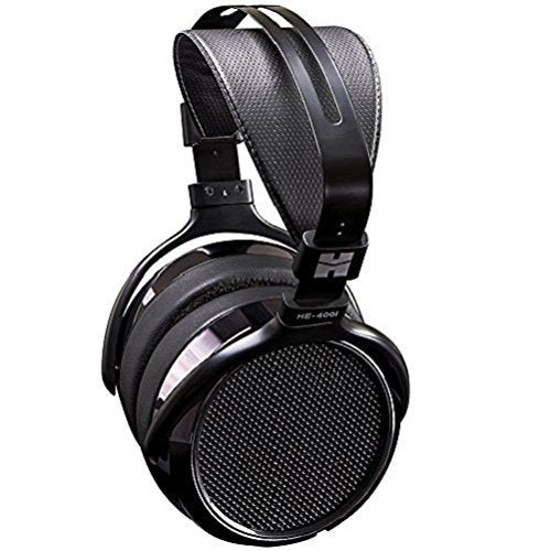 HIFIMAN HE-400I Planar Magnetic Headphones Bundled with Blucoil Aqua Portable Battery-Free, in-Line Headphone DAC/Amplifier and Under-Desk Headphone Hook