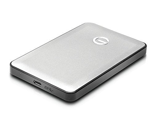 G-Technology 0G04876 G-Drive 1TB Mobile USB-C External Hard Drive (Silver) Bundle with Blucoil Shockproof Portable Hard Case
