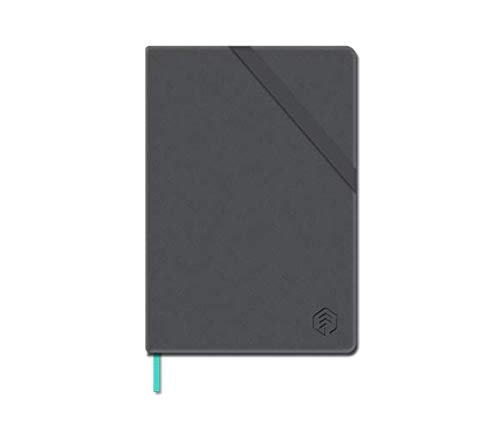 NeoLab Mini N Hardcover Professional Notebook for use with Neopen N2 or M1 Smartpen for Writing, Sketching, Journaling - 100 Ruled & 100 Blank Pages, 3.5 x 5.5 in. (Black)