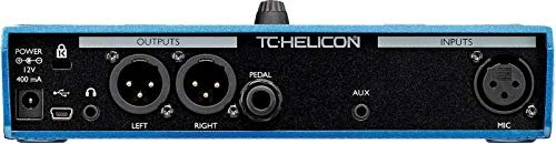 TC Helicon VoiceLive Play Vocal Effects Pedal Bundle with 12V 400mA DC Power Supply, Samson R21S Cardioid Dynamic Microphone, Blucoil 10-FT Balanced XLR Cable, Pop Filter Windscreen, and 5x Cable Ties