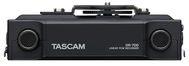 TASCAM DR-70D 4 Channels Linear PCM Recorder for DSLR Bundle with Blucoil Audio 10-Ft Balanced XLR Cable and 5-Pack of Reusable Cable Ties