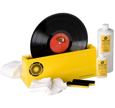 Spin Clean Record Washer MKII Package Limited Edition Clear Unit Album Cleaning System - Plus - Blucoil Audio Anti-Static Carbon Fiber Vinyl LP Record Cleaning Brush