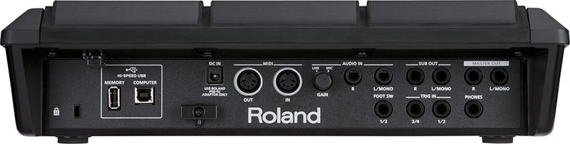 Roland SPD-SX Sampling Percussion Pad with 4GB Internal Memory Bundle with Wave Manager Software, Blucoil 9V DC Power Supply, 5-Ft MIDI Cable and 5-Pack of Reusable Cable Ties