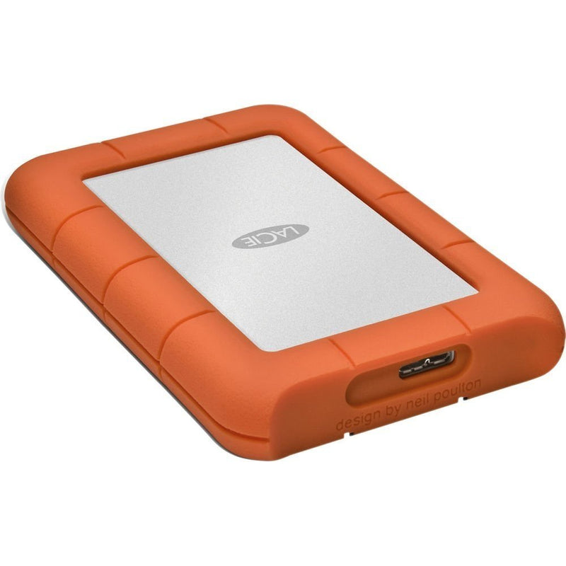 "LaCie Rugged Mini -9000633- 4TB HDD Portable Hard Drive USB 3.0 Compatible –INCLUDES– Blucoil Premium EVA Shockproof Hard Case for Portable External 3.5"" Hard Drives"