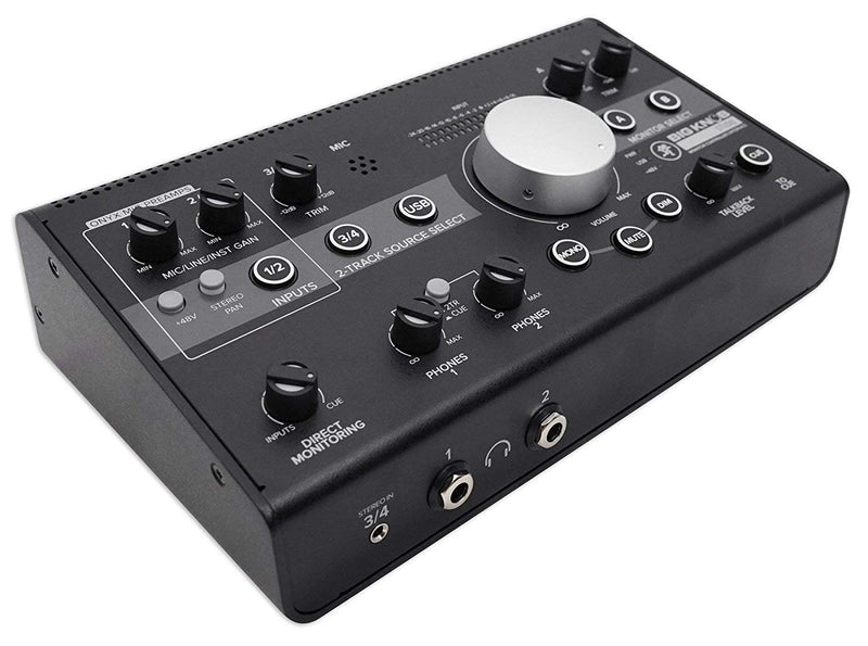 Mackie Big Knob Studio 3x2 Monitor Controller/USB Audio Interface Bundle with Traktion Software, Blucoil 20-Ft XLR Cable and 5-Pack of Cable Ties