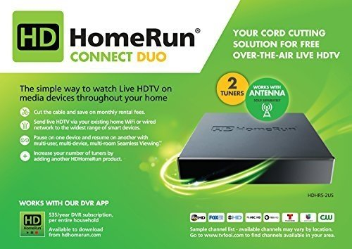 SiliconDust HDHomeRun CONNECT DUO HDHR5-2US 2- Tuner LiveTV for Cord Cutters...