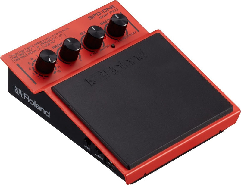 Roland SPD::ONE WAV Drum Pad for Drummers, Guitarists, DJs and Vocalists Bundle with Mounting Attachment and 4 Blucoil AA batteries