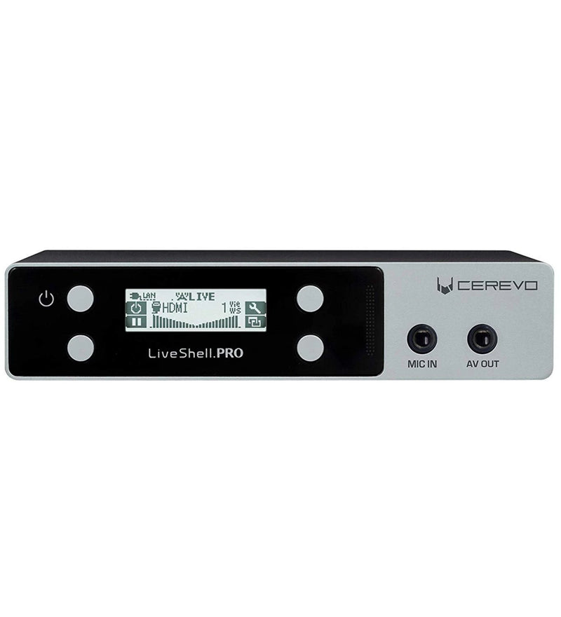 Cerevo LiveShell PRO Video Streamer with Stereo Mic Input, H.264 Encoder (WiFi & Wired Connection)