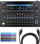Roland AIRA MX-1 Mix Performer Digital Mixer Bundle with Ableton Live Lite Serial Number Card, Blucoil 5-Ft MIDI Cable, and 5-Pack of Reusable Cable Ties