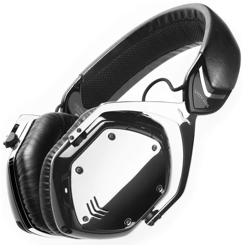 V-MODA XFBT-PHCRM Crossfade Bluetooth Wireless Headphones with Noise Isolation (Phantom Chrome) -INCLUDES- Omni-Directional BoomPro Microphone AND Blucoil Adhesive Under-Desk Headphones Hook Mount