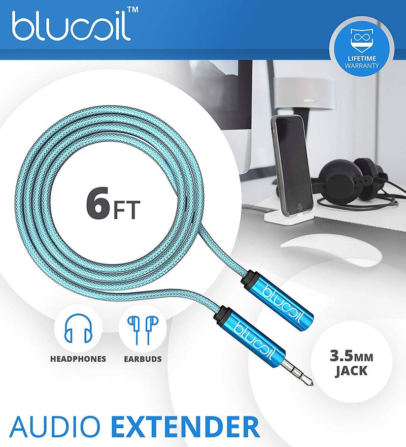 FiiO FH1 Earphones with Dynamic and Balanced Armature Hybrid Technology (Black) Bundle with Blucoil 6-FT Headphone Extension Cable (3.5mm), and Portable Earphone Hard Case