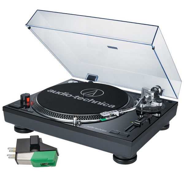 Audio Technica AT-LP120-USB Professional Turntable (Black) with Extra AT95E Cartridge