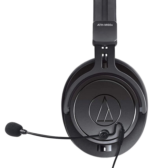 Audio-Technica ATH-M60x Headphones + Antlion Audio ModMic 4 + Blucoil USB Audio Adapter + Y Splitter Cable