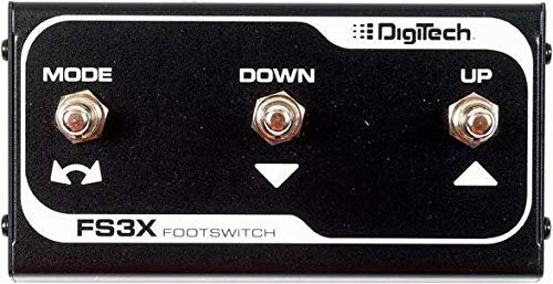 DigiTech FS3X 3-Button Footswitch Bundle with Blucoil Power Supply Slim AC/DC Adapter for 9 Volt DC 670mA and 4 Blucoil Guitar Picks