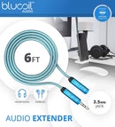 Williams Sound 2.0 Pocketalker Personal Amplifier Bundle with Blucoil Audio Premium Headphone 3.5mm Extension Cable and 4-Pack of AAA Batteries