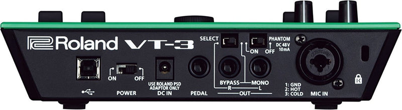Roland AIRA VT-3 Voice Transformer and AC Adapter with USB Plug Bundle with Blucoil 10-FT XLR Cable and 5-Pack of Blucoil Reusable Cable Ties