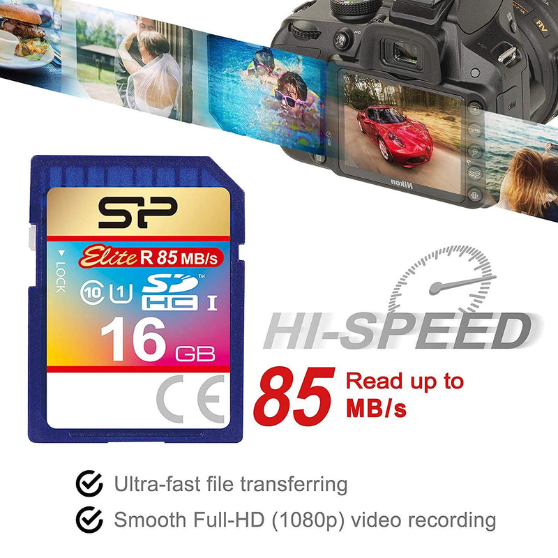 Micca Speck G2 1080p Full HD Ultra Portable Media Player Bundle with Elite 16GB Class 10 SDHC UHS-1 Memory Card and Blucoil 8-Ft HDMI Cable