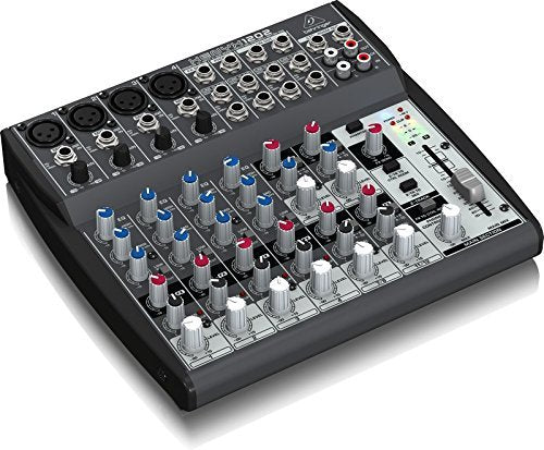 Behringer XENYX 1202 2-Bus Mixer with Mic Preamps, 3-Band EQ Bundle with Blucoil 10-Ft Balanced XLR Cable and 5 Pack of Cable Ties
