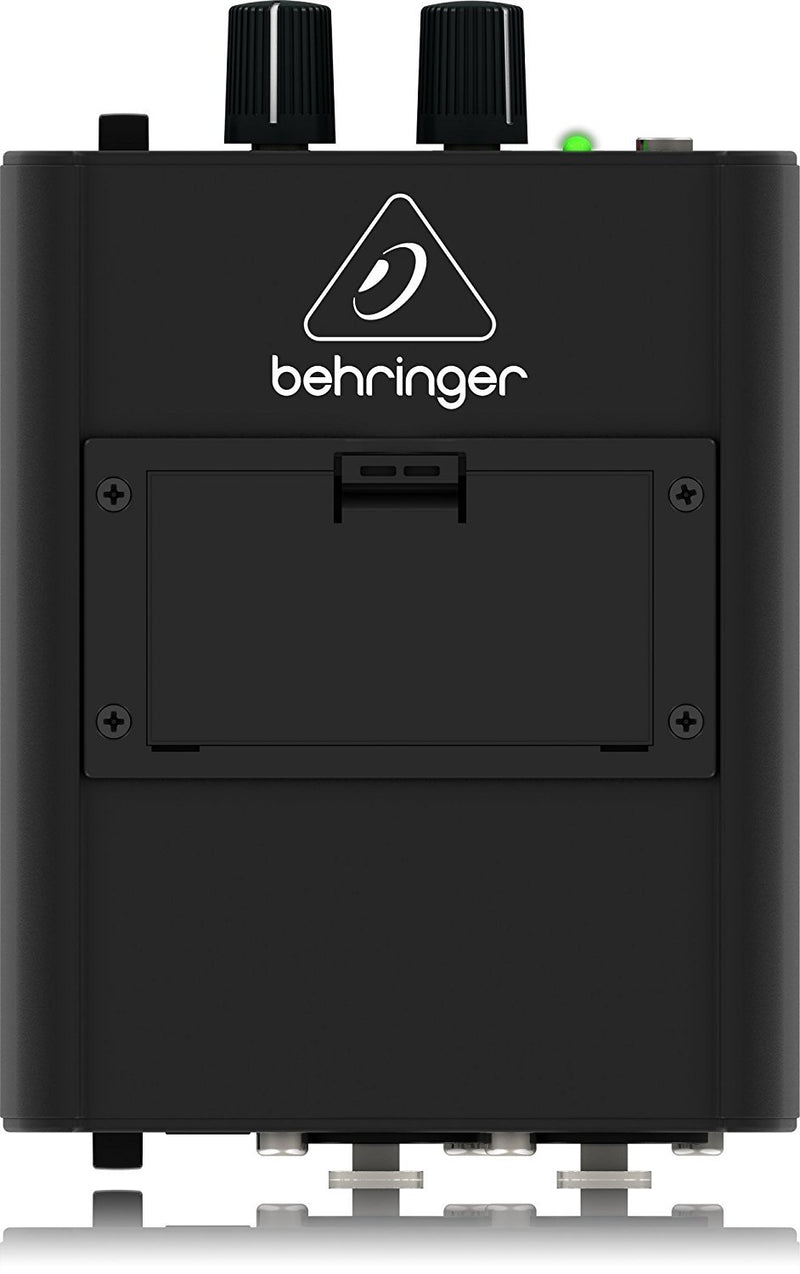 Behringer Powerplay P1 in-Ear Monitor Amplifier with Dual Input Bundle with Blucoil Power Supply Slim AC/DC Adapter for 9 Volt DC 670mA with US Plug