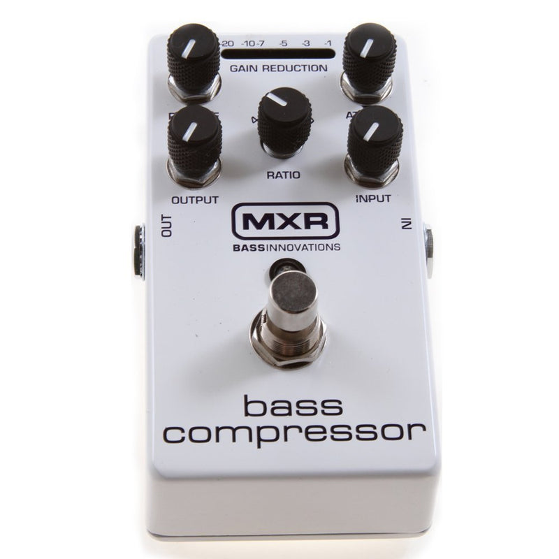 MXR M87 Bass Compressor Effects Pedal Bundle with 4 MXR Right Angle Patch Cables