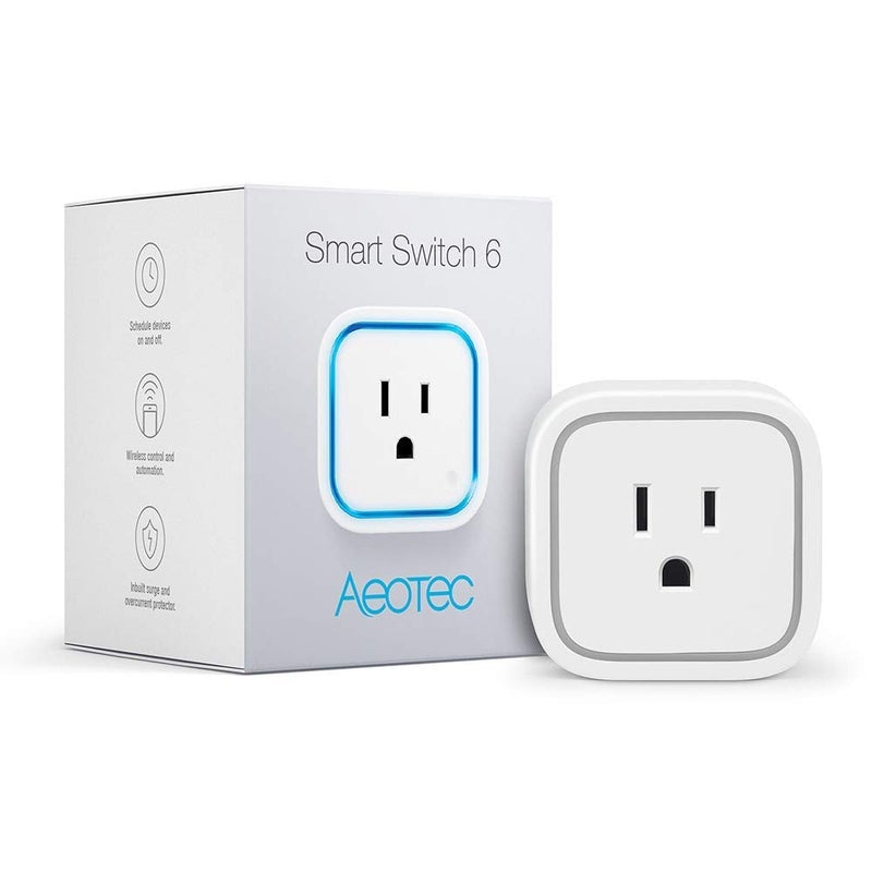 Aeotec ZW110 Smart Switch 6 Remote Control Socket Bundle with Z-Stick Gen5 Z-Wave Plus USB Adapter and Elite 32GB Class 10 UHS-1 MicroSDHC Memory Card