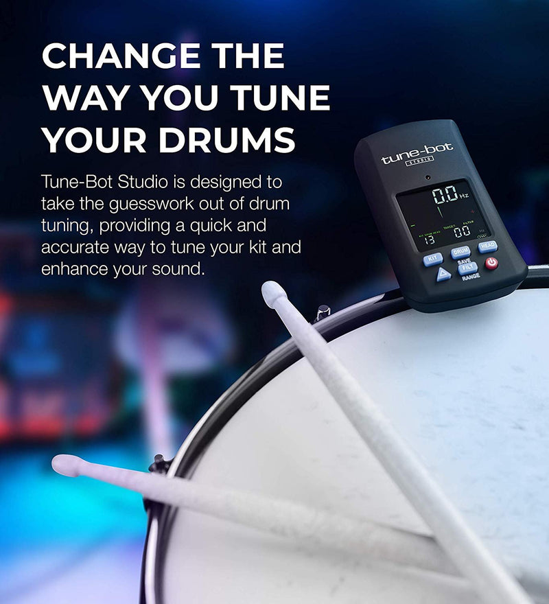Tune-Bot Studio TBS-001 Digital Drum Tuner - Clip-On Tuner for Acoustic Drum Kits