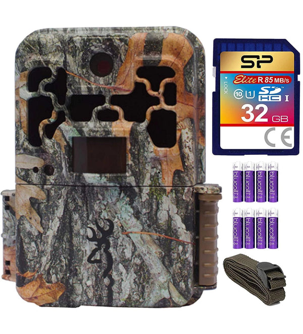 blucoil Browning Trail Cameras BTC-8A Spec Ops Advantage Full HD Video Camera with 20MP Image Resolution Bundle with 6-FT Tree Strap Mount, Silicon Power 32GB Class 10 SDHC SD Card 8 AA Batteries