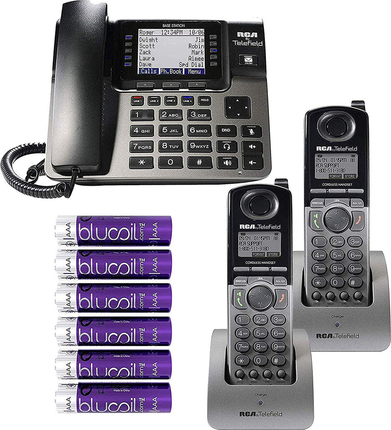 RCA Unison Wireless Deskphone 4 Line Phone Systems with Digital Receptionist Bundle