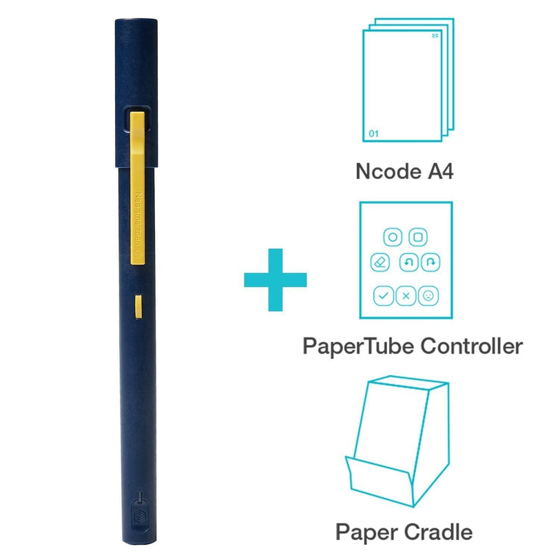 Neo Smartpen M1 (Grey) with PaperTube Video Creation Kit Bundle for Video Production, Story Telling, Presentation - iOS & Android Smartphones, Tablets, and Windows